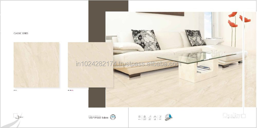 Beige Coloured NANO Polished Porcelain Floor Tiles Art08