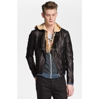 Lux Collection Lambskin Leather Biker Jacket