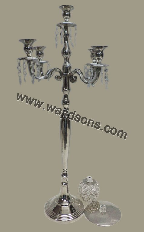 ALUMINIUM CANDELABRA 5 LIGHT FOR WEDDING DECORATION