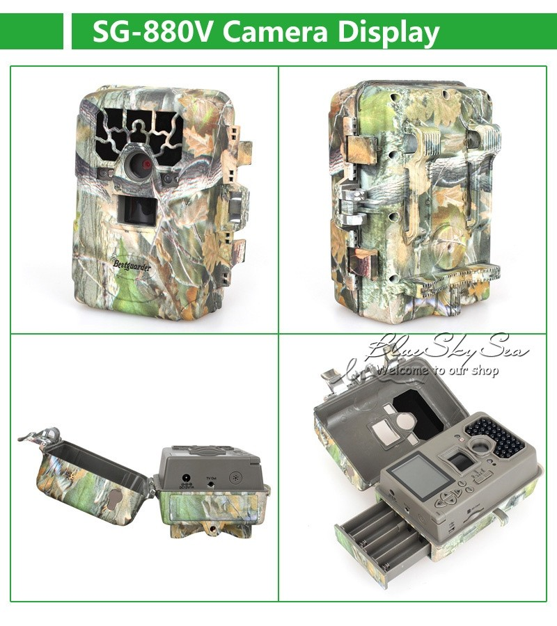 "Trail Camera 2"" 1080P SG-880V No Glow 12MP Mini Infrared IR Digital Hunting Game Camera"