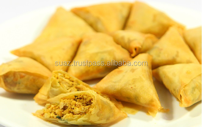 Frozen Chicken Samosa , Mutton Samosa , vegetable samosa , Keema samosa , Small Samosa Snack