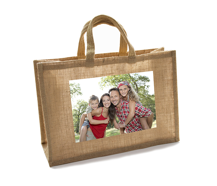 Excellent Photo window Jute Bag