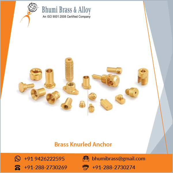 Best Quality Custom Sized Brass Knurled Anchor at Low Rates
