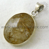 Superiority Design Sterling Silver Golden Rutile Pendant Wholesale Handmade Silver Jewelry Online