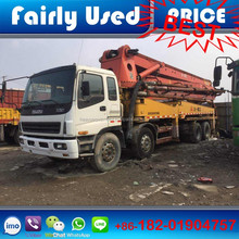 Used Isuzu chassis 4 boom 42m truck mounted Sany concrete pump