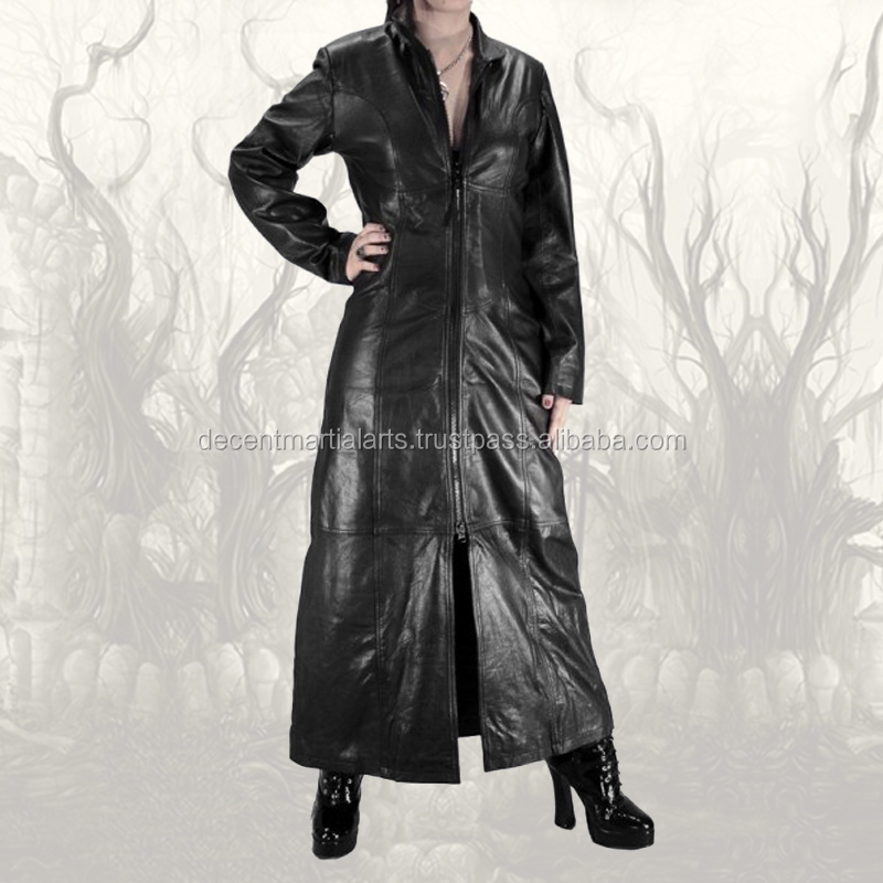 Dark Breaker Ladies Gothic Long Leather Coat