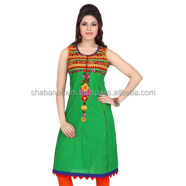 Indian Kurti Sleeveless tops hand embroidered heavy party suits
