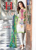 Pakistani Lawn Cotton Embroidered Spring Summer 2016 Charizma Suits