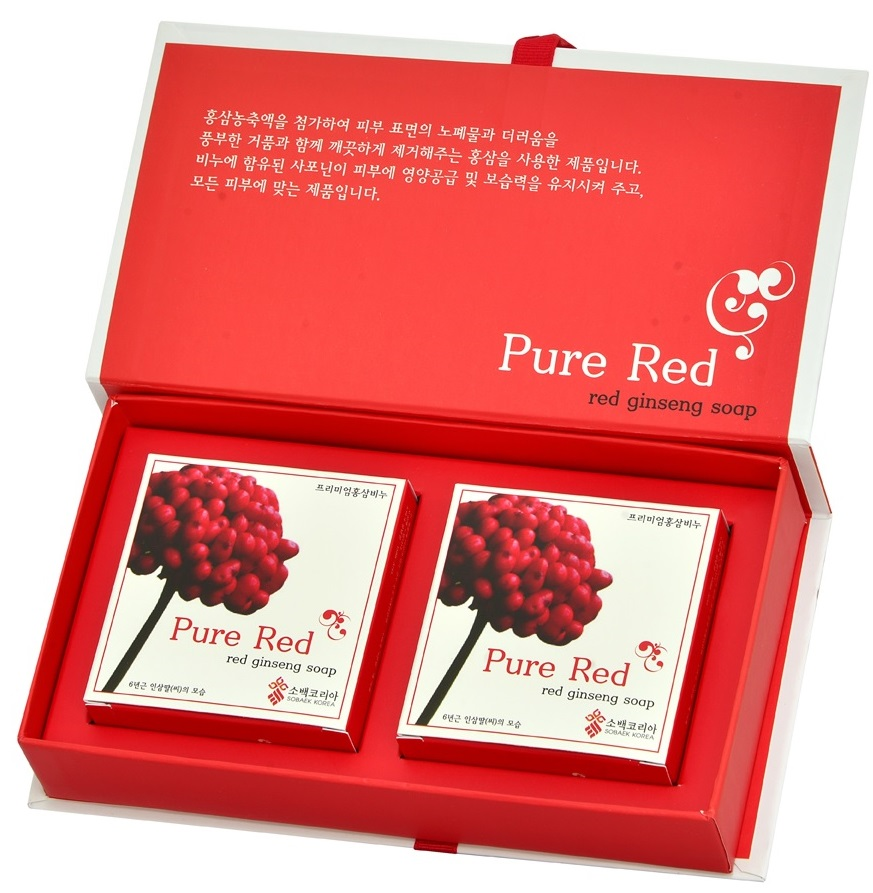 RED GINSENG - PURE RED SOAP SET