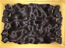 Double drawn wavy 100% silky natural and unprocessed hair