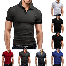 LOGO customized slim fit no button polo shirt,wholesale men's running tops, best quality dri fit polo shirt