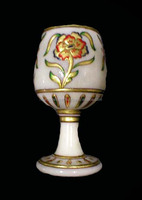 New Arrival 2016 Arabic Style Marble goblet of Jam Made from Single Stone decorated
