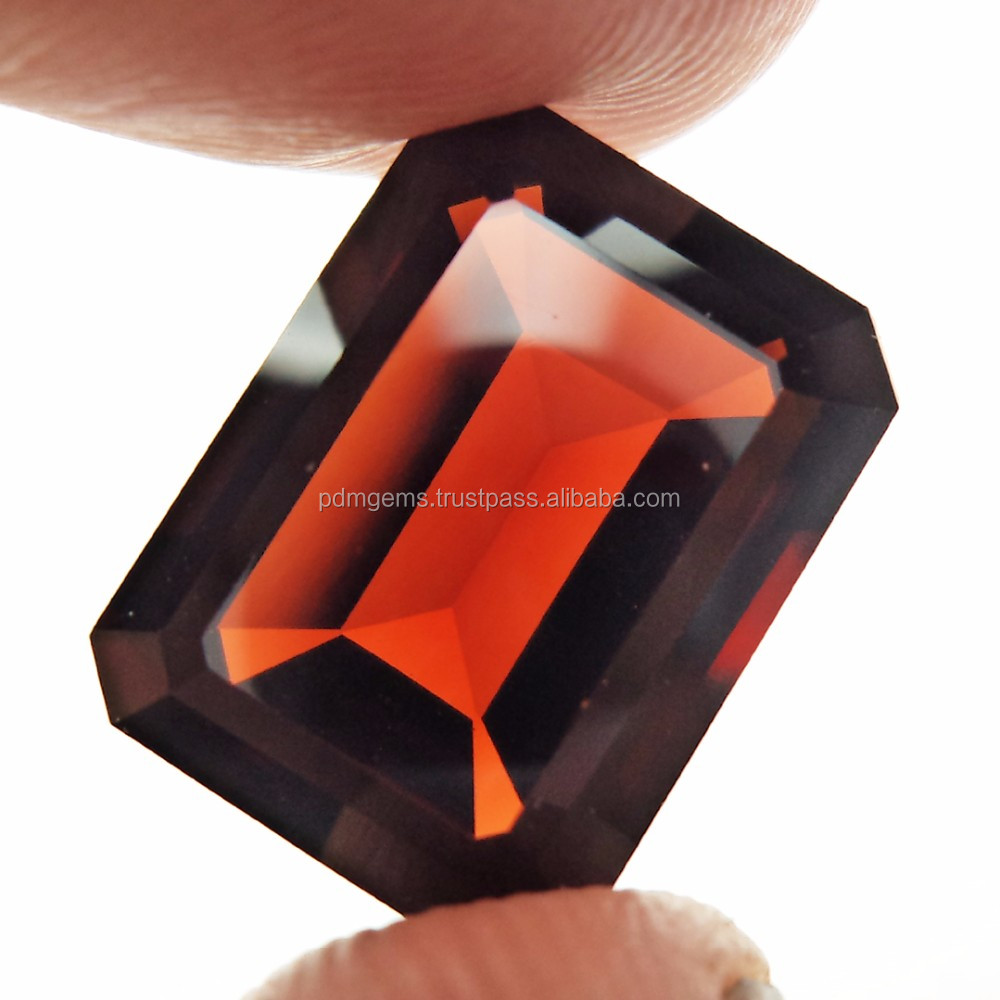 Red Garnet Stone Faceted Octagon Cut Loose Gemstone Manufacturer For Platinum Ring