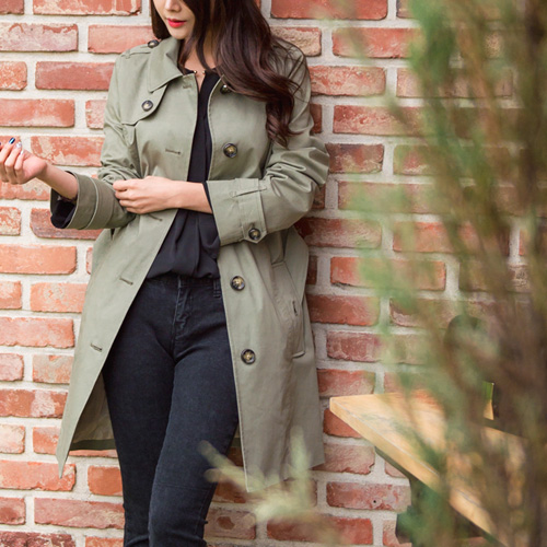 Women Outwear Lady Korean Long Coat