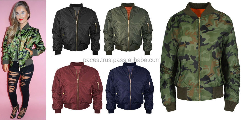 Custom Patches Nylon Bomber jacket Ma-1 Flight jacket