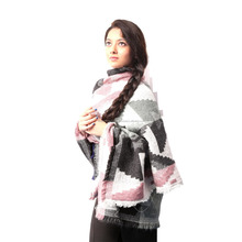 Wholesale Wool Jacquard Infinity Knitted Shawl, Scarve