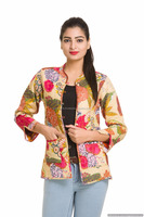 Indian Cotton Jackets Floral Tropicana Handmade Winter Season Coat Women Reversible Blazer Casual Wear