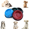 Non-slip Dog Puppy cat food drink Water Bowl Dish With Bone Printed New