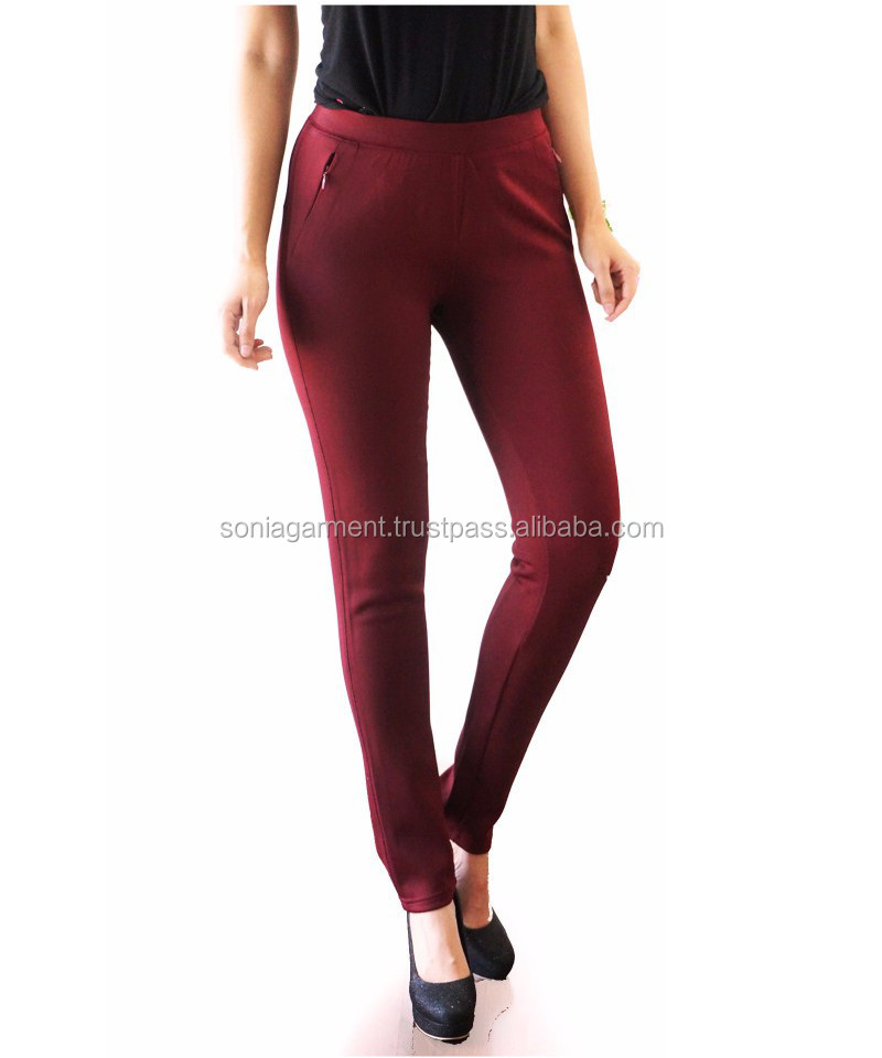 High quality slim fit office latest design Long Pants for Women comfortable and stretch