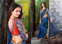 Designer Sarees With Heavy Blouse