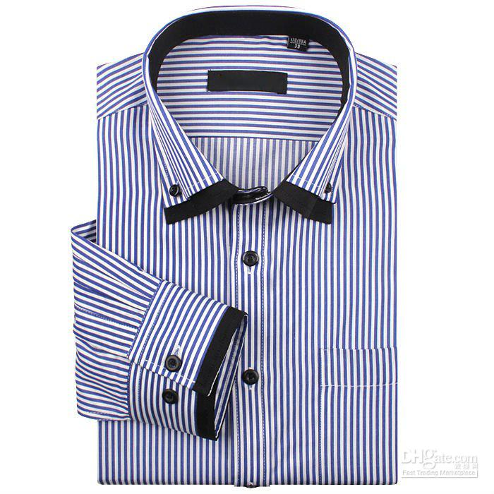 Mens striped cotton shirts for any season wholesale