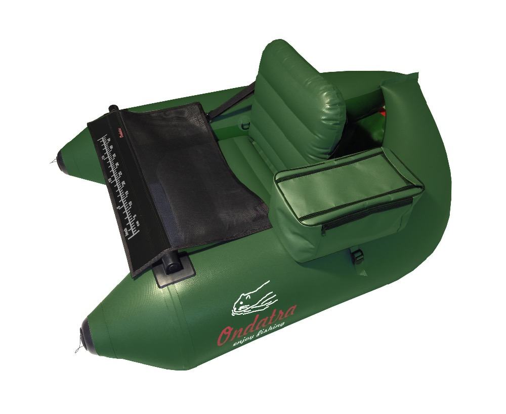 Inflatable PVC Fishing Float Tube (Belly Boat) ONDATRA 5,4 kg. Green.