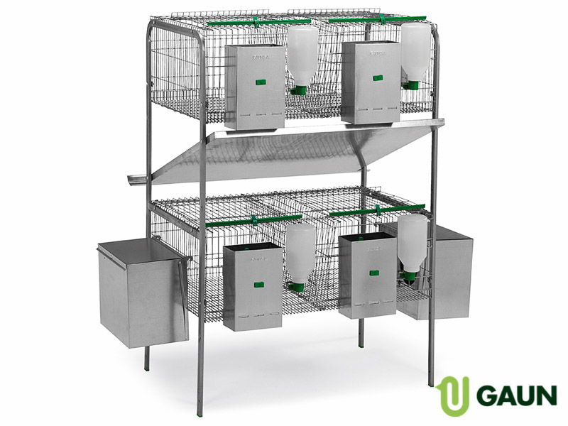 Rabbit cage 2 floors 2 nests 2 compartments. Model Castilla