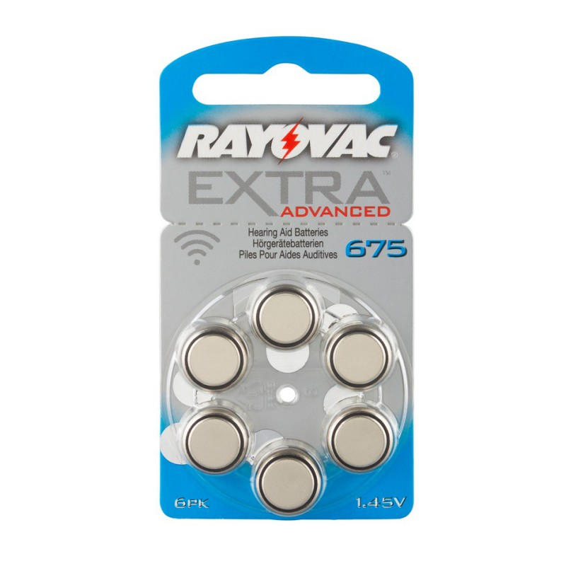 Rayovac Extra Advanced 675 Hearing Aid Batteries, PR44