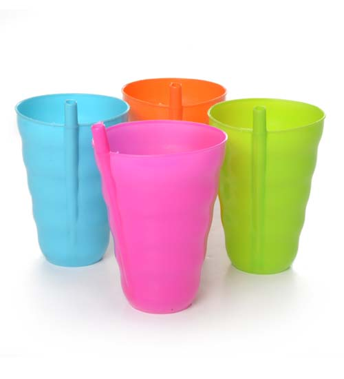 Plastic Cup 4pc, 4 Color per Pack.