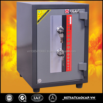 popular type two key lock steel residential safes - KS 80D 2K