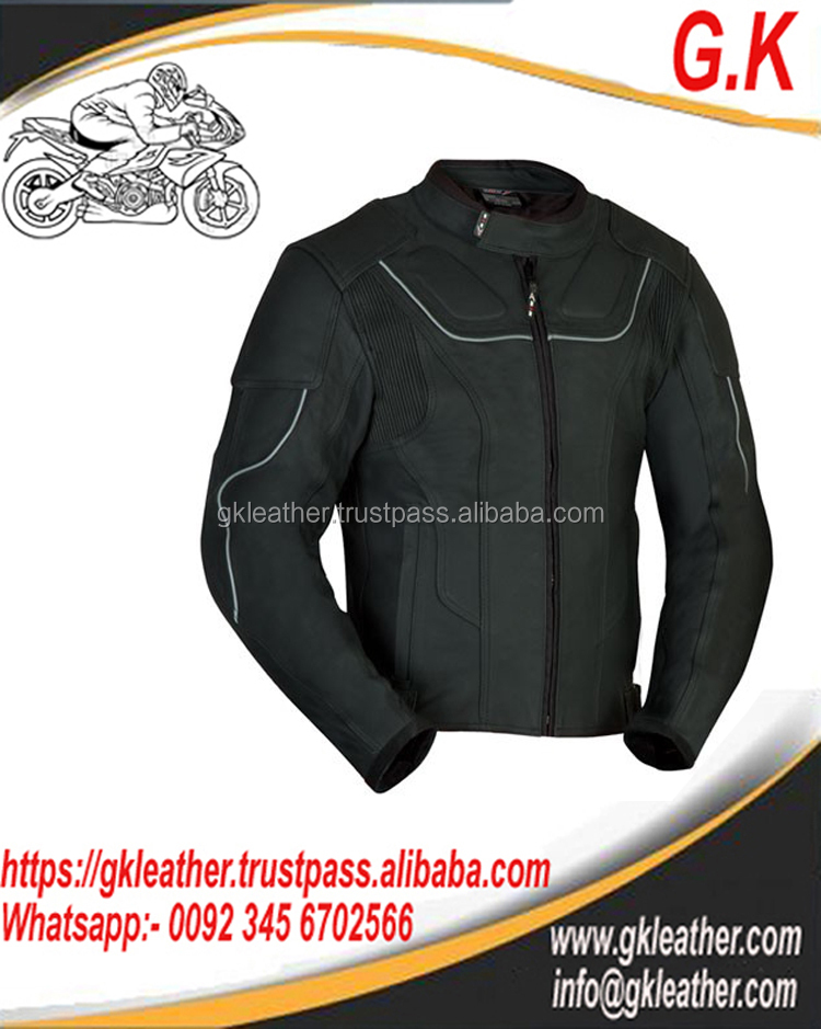 MENS LEATHER MOTORCYCLE JACKET/CE PROTECTOR JACKET/SAFETY FOR RIDERS