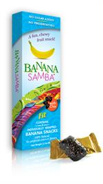 Banana Samba FIT with Chia Seeds 100% Natural Chewy Vegan Snack