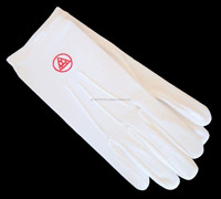 100%-cotton-Masonic-gloves-for-Royal-Arch-Chapter / Cotton Gloves / White Gloves