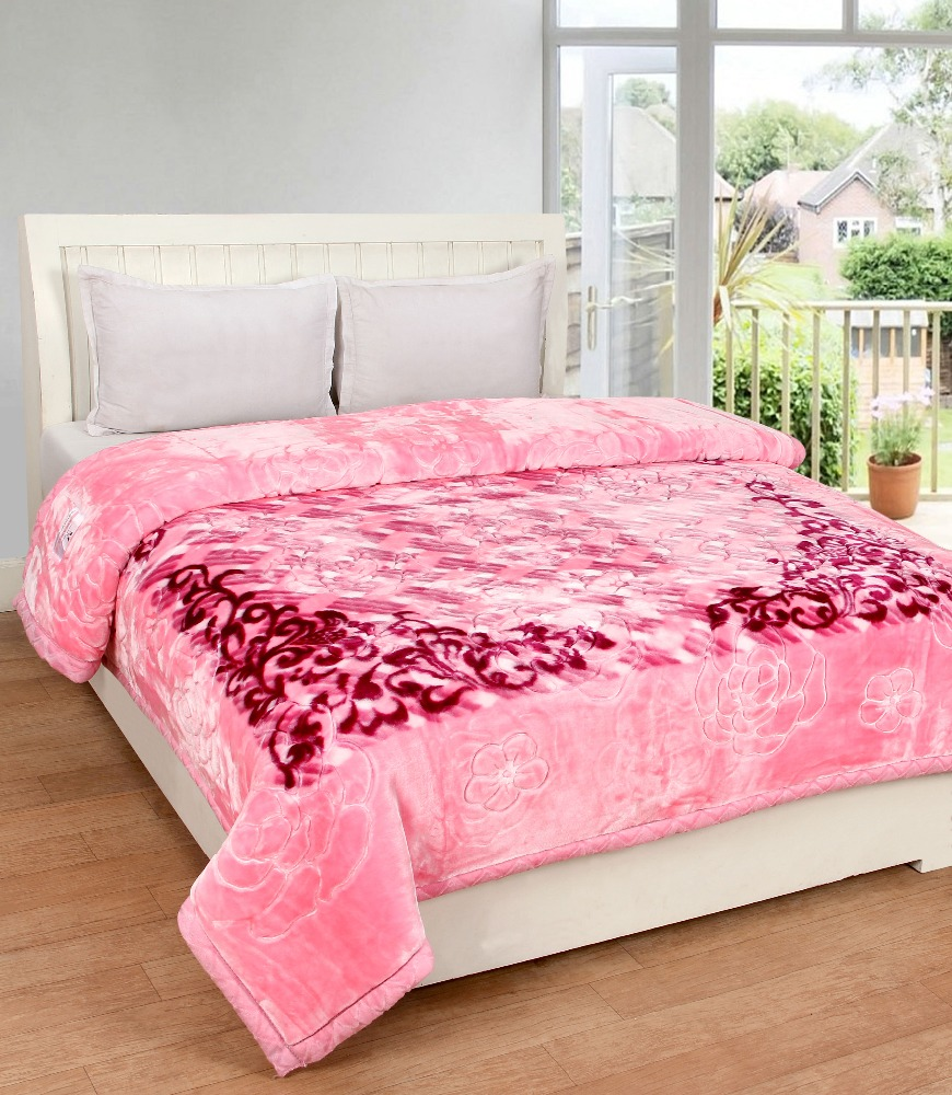 VIPL Red Apple Double Bed Double Ply Super Soft Blanket