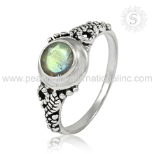 Grandiosity Indian Design Silver Labradorite Ring Lovely Collection For Lady 925 Sterling Silver Jewelry