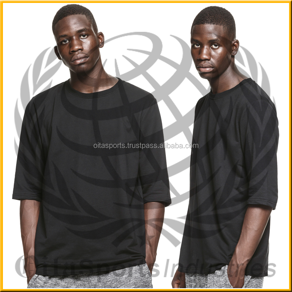 Men T-Shirt 1/2 sleeves With Oversized Drape Pocket In Boxy Fit wholesale China