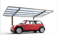 Durable aluminum carport with polycarbonate roof for with multiple functions made in Japan