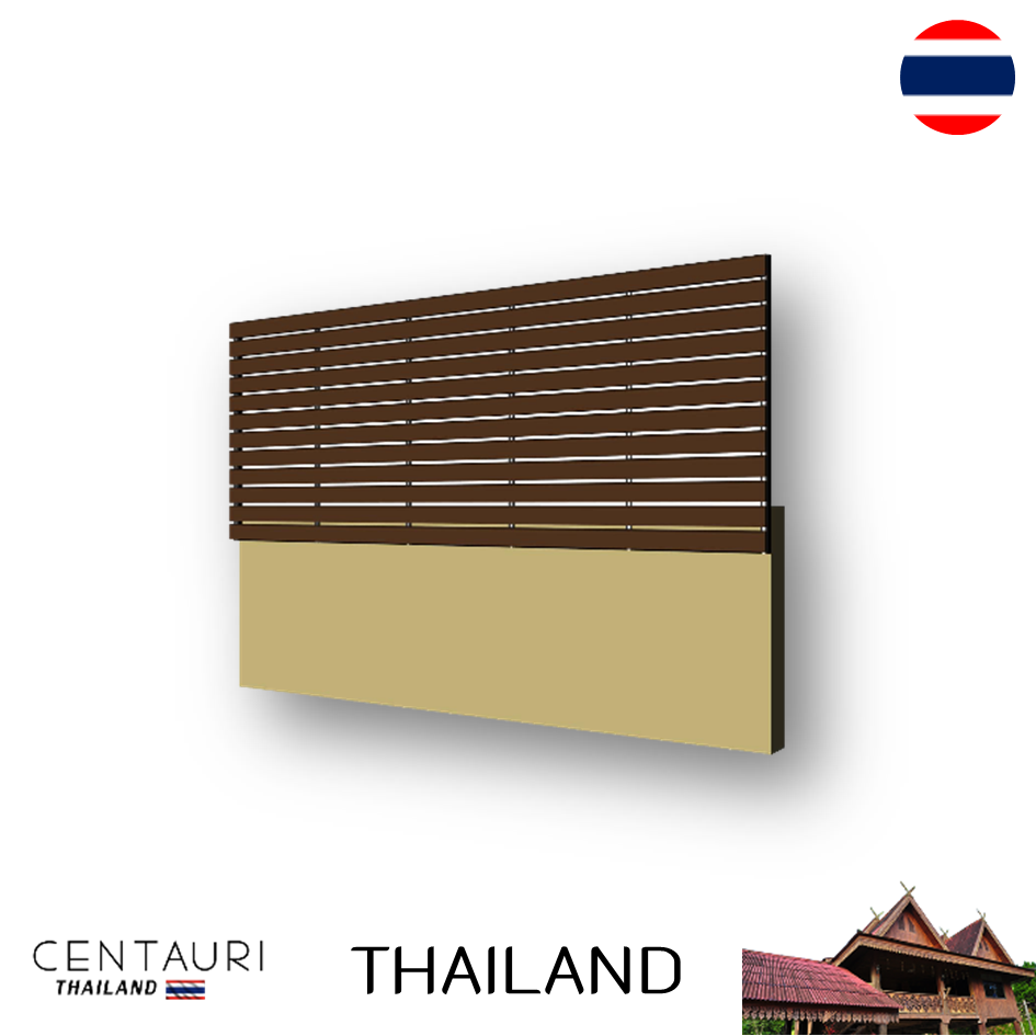 Artificial wood 7.5*300*2.5 cm new oak color Lath fence set Thai and 24.28 kg 0.28 pack/sqm and from Thailand