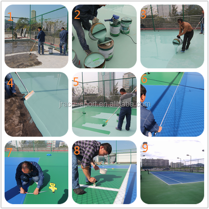 outdoor artificial portable badminton court flooring