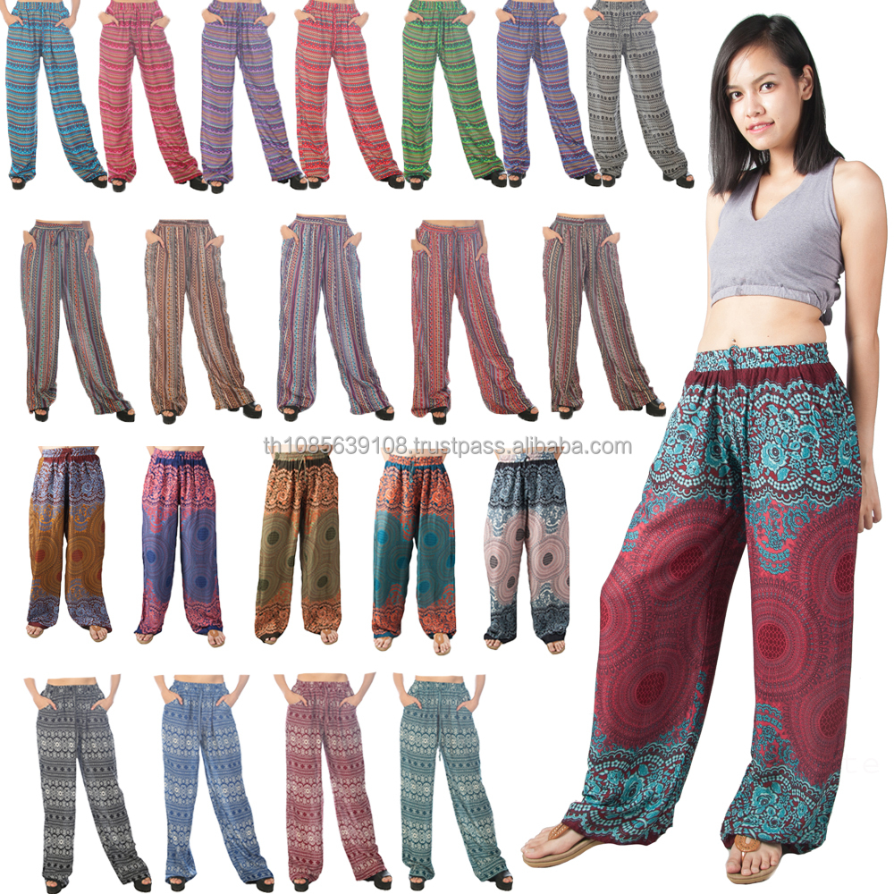 Lofbaz Women's Pattern Printed Wide Leg Palazzo Pants