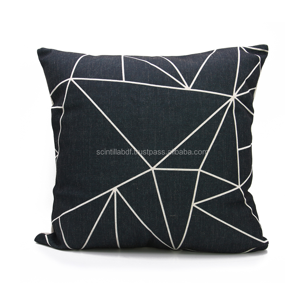 LG0031,Free Shipping, 1pc, Black Geometric Seat Chair Sofa Pillow Cover, Custom Accept