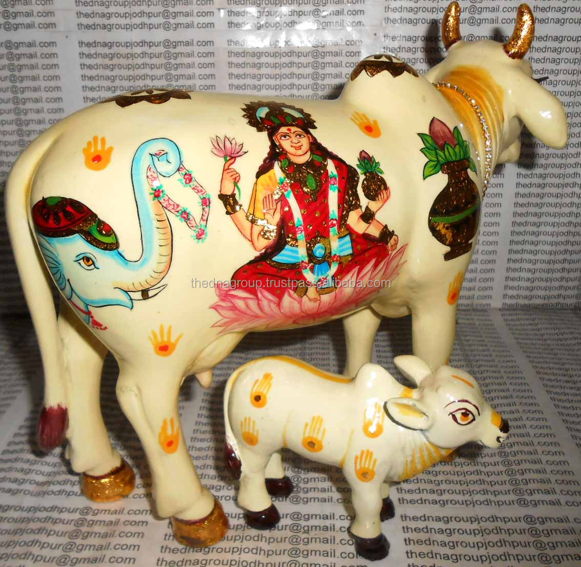 Antique Kamdhenu Cow Sculpture-2