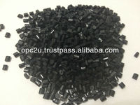 abs plastic raw material black