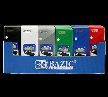 BAZIC Classic Color Slider Pencil Case w/ PDQ Display