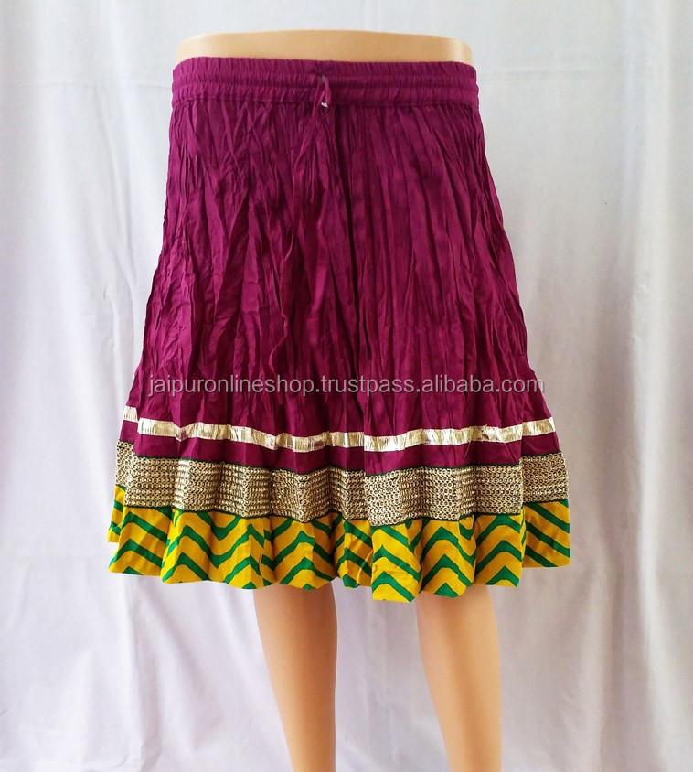 Best Selling Online Cotton Designer Mini Skirts / Short Skirts ...