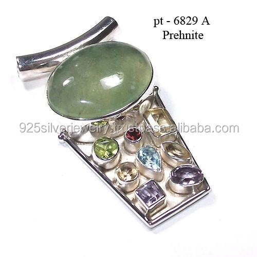 925 sterling silver jewelry wholesale genuine gems jewelry color stone pendant