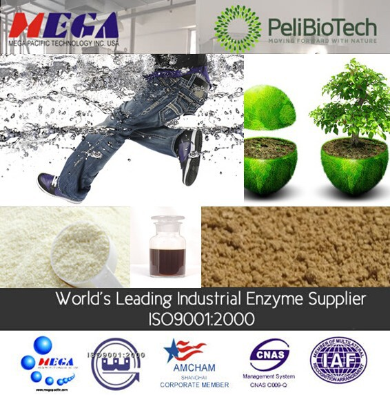 industrial enzyme mainly for textile with different effect such as abrasion, dezising, and so on