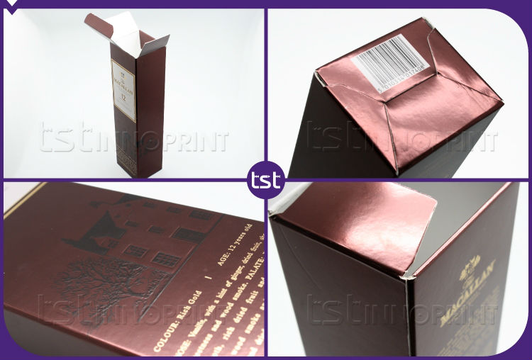 Custom Luxury Packaging Cardboard Wine Box with Printing
