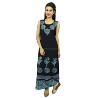 Bohemian Dress Summer Wear Embroidered Long Rayon Maxi Women Clothings D3175B