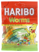 HARIBO WORMS JELLY CANDY PACK 80G